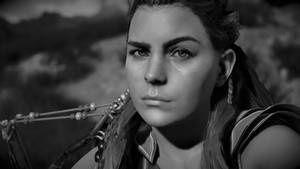 Aloy in the Black and White Room by Hayter