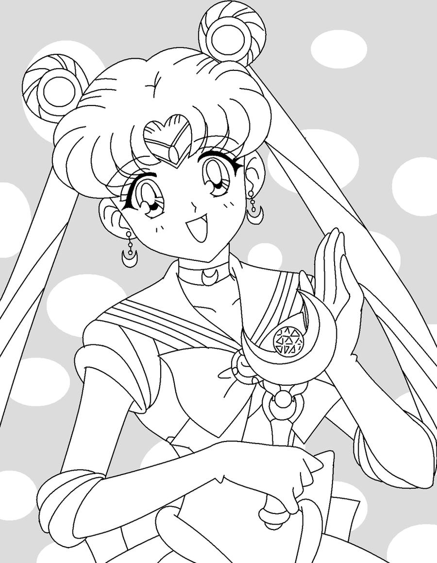 Sailor Moon Coloring Page By Kigaru Sama On DeviantArt