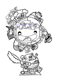 I has panda for a brain Inks