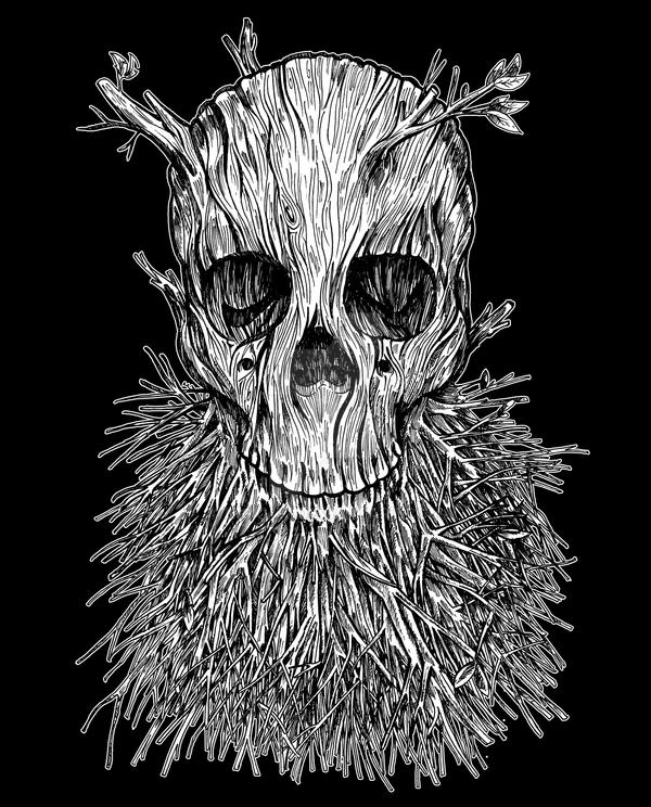 Lumbermancer Black and White by nickv47