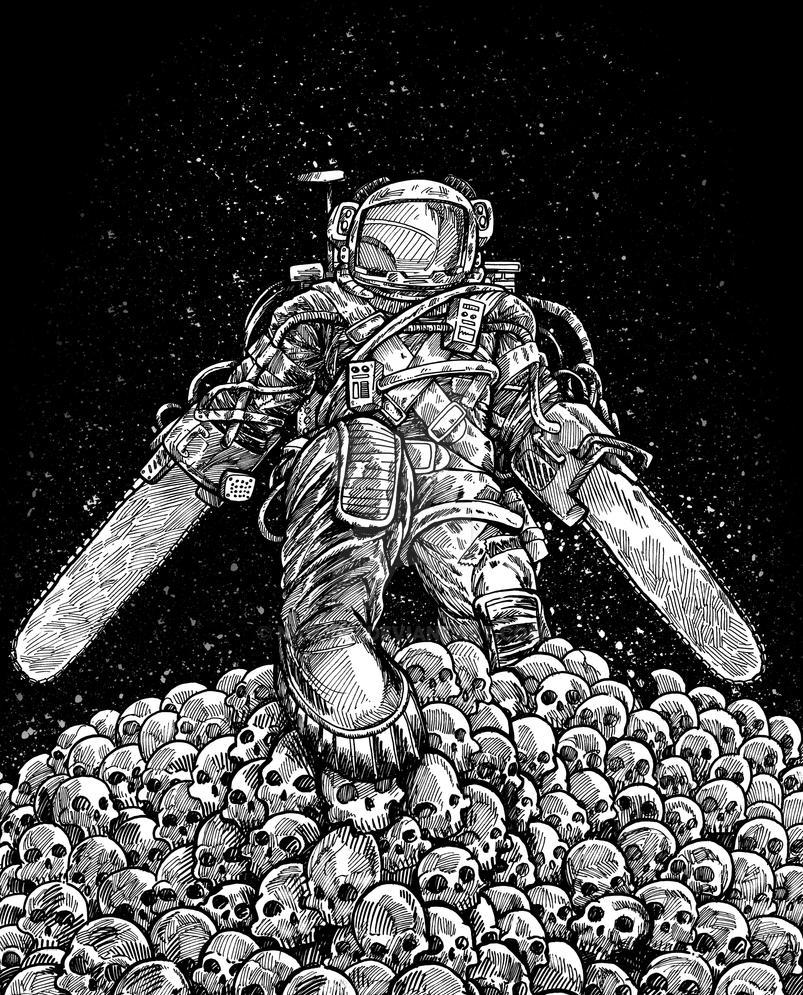 Texas Chainsaw Astronaut NM by nickv47