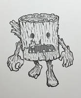Inktober 01: Zombie Log by nickv47