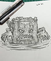 Inktober 05: The Bog Log by nickv47