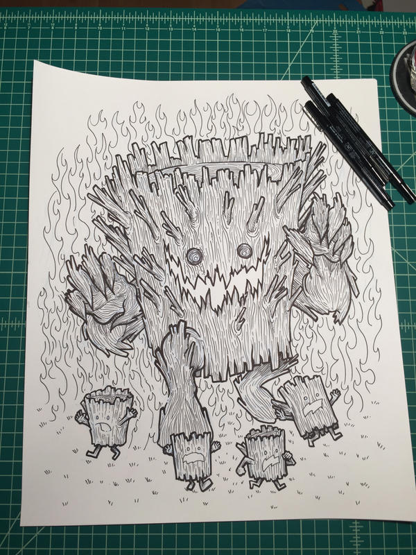 Inktober 18: Kaiju Log by nickv47
