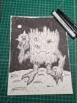 Inktober 30: The Alien Log