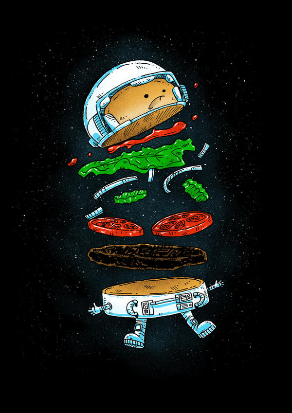 Astronaut Burger by nickv47