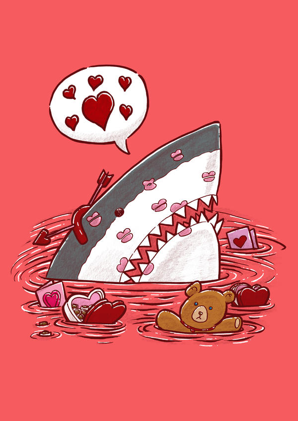 The Valentine's Day Shark by nickv47