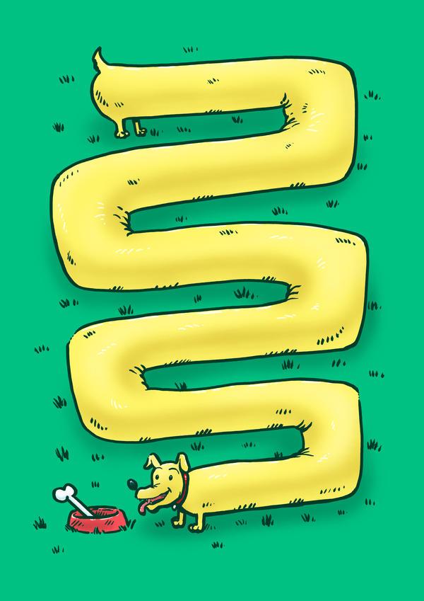 The Infinite Weiner Dog by nickv47