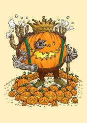 The Steampunk Pumpking by nickv47