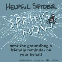 Helpful Spider - Groundhog bribe by nickv47