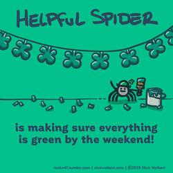 Helpful Spider - Green by nickv47