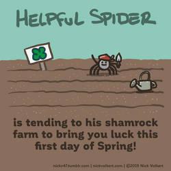 Helpful Spider - Shamrock Farm by nickv47