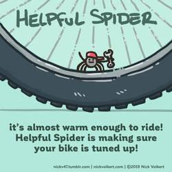 Helpful Spider - Bike Tune up by nickv47