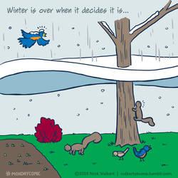 Monday Comic - Winter's Last Hoorah by nickv47
