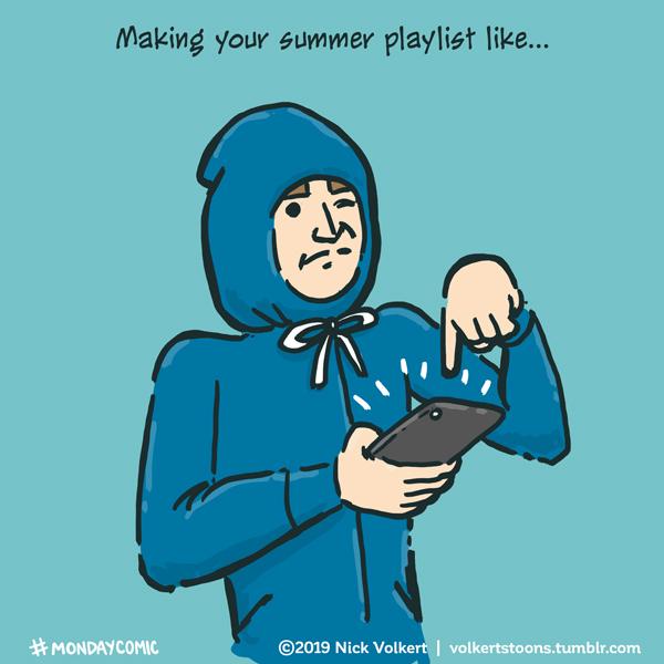 Monday Comic - Summer playlist by nickv47