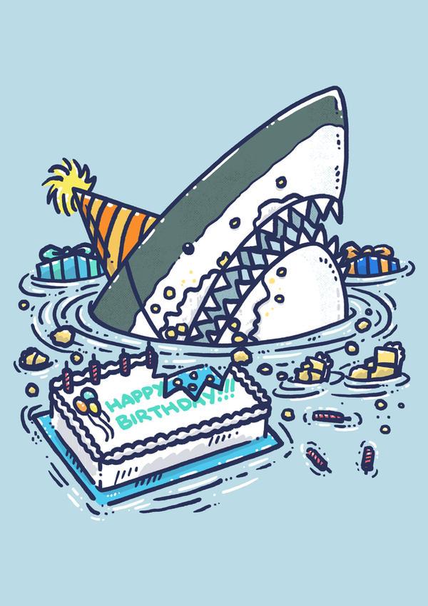 Sheet Cake Destruction Shark
