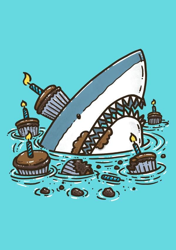 Cupcake Destruction Shark