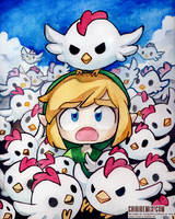 Cucco Attack! by Chibirem