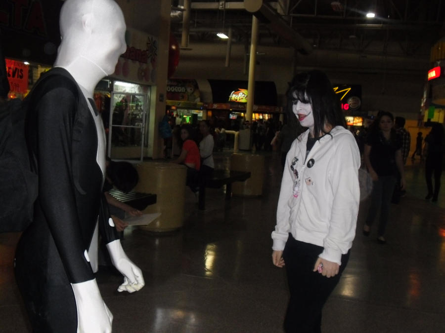 Jeff the killer (Me) and Slenderman (?????) by RacconJovis ...