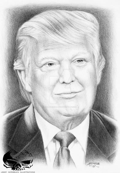 how to draw donald trump drawfee