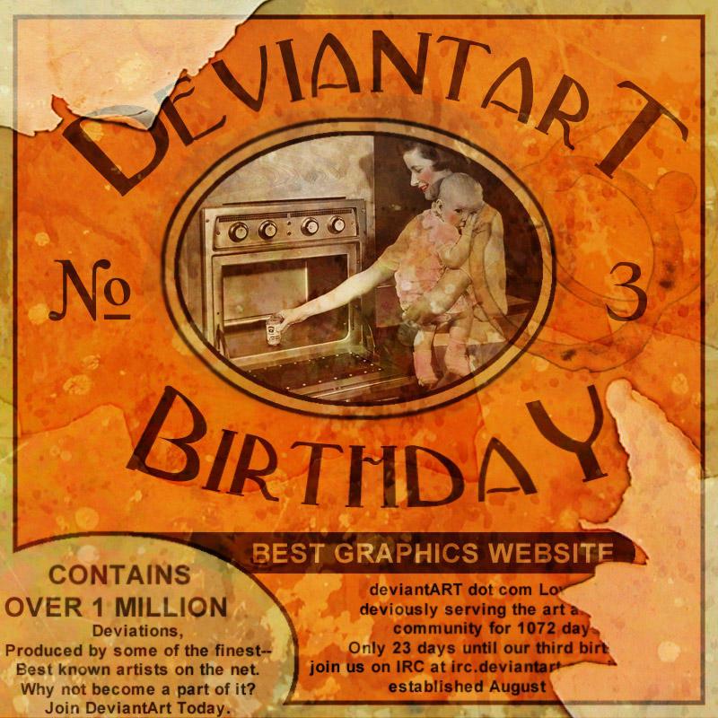 Deviant Art Third Birthday Sub by stix4life