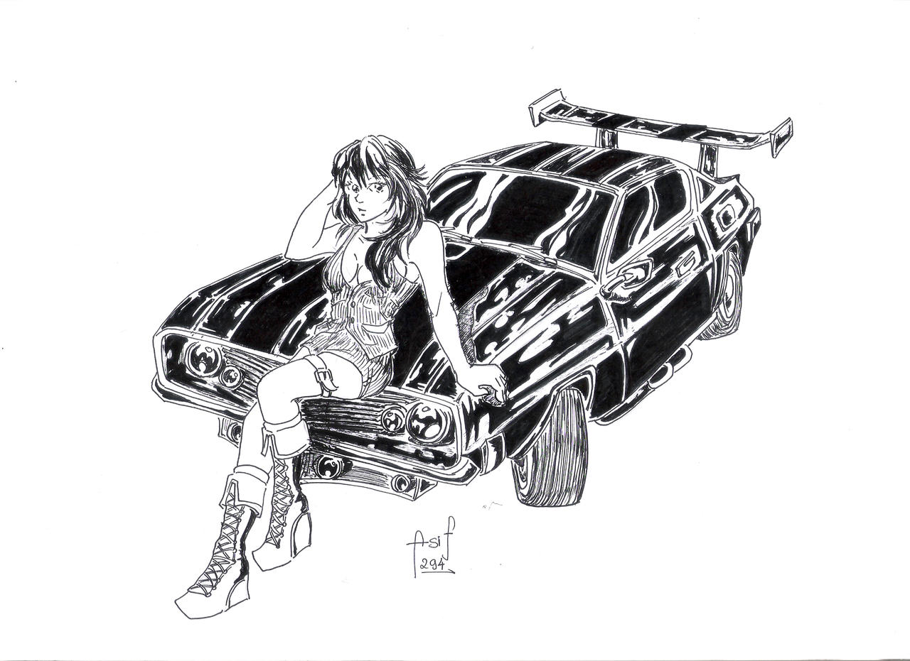 Muscle Car Drawings | Carsut - Understand cars and drive ...