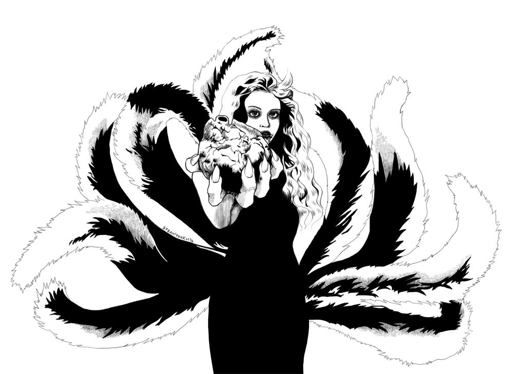 Nine Tailed Fox by steammmpunk