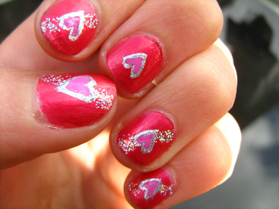 Heart Nails by missGYMNASTICS on DeviantArt