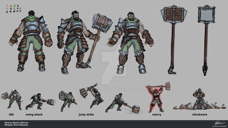 RPG Warrior Character Concept