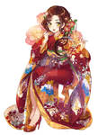 Harriet in kimono