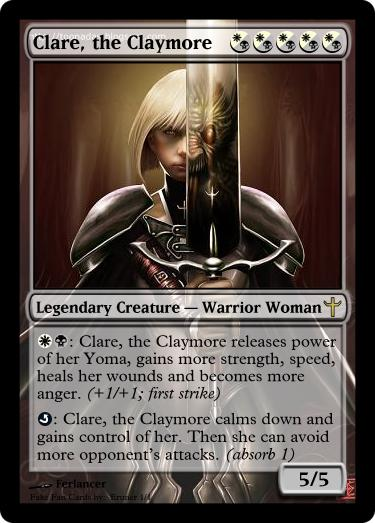 Clare, the Claymore by Eruner