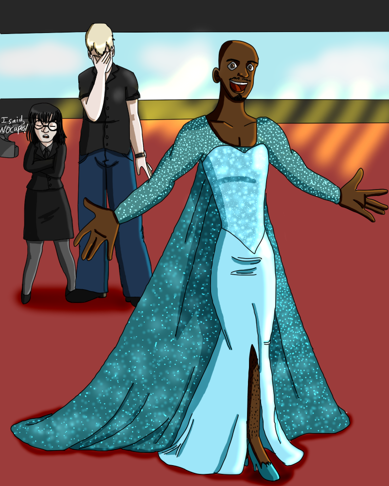 Frozone as Elsa by Colourednightmare on DeviantArt