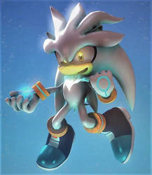 Silver the Hedgehog :~Sonic SFM~: by CharCharRose131
