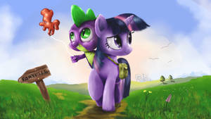 Twilight and spike by Reillyington86
