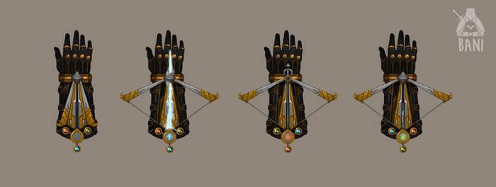 Hidden Crossbow Glove Transformation