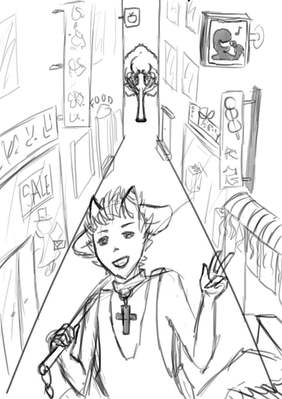 Niro In City (sketch)