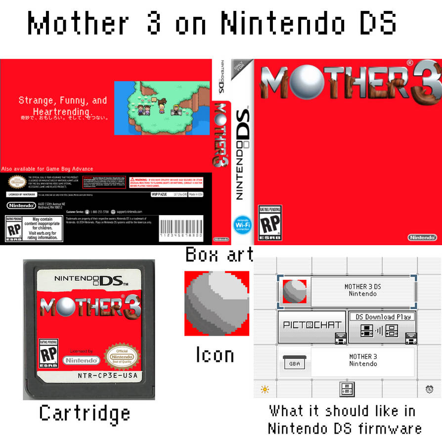 Mother 3 on Nintendo DS mockup