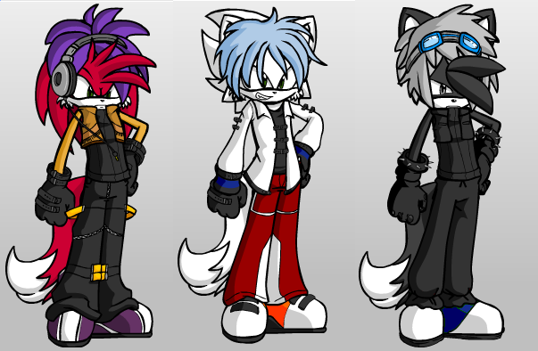 rizz,nightstage,and darkstorm's new look's by lightninghurricane98