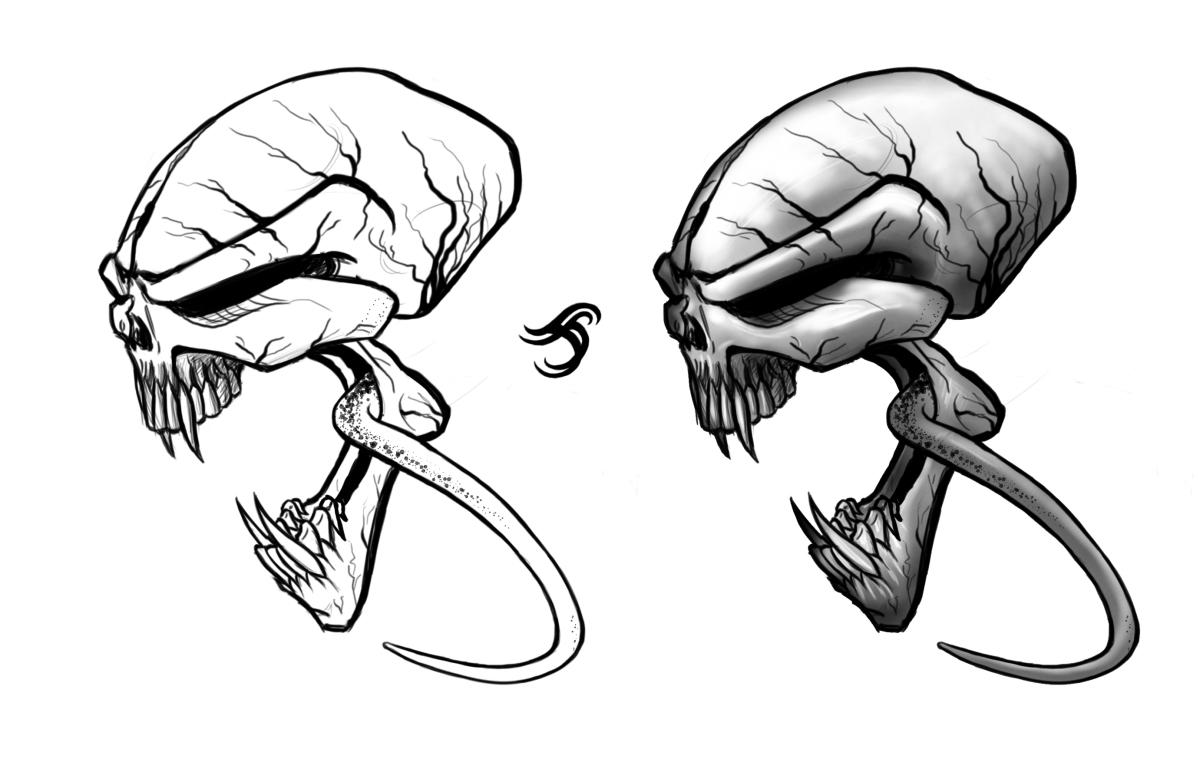 Skull tatto 1 by BluEHYPer