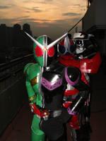 Hardboiled riders by nikocruz