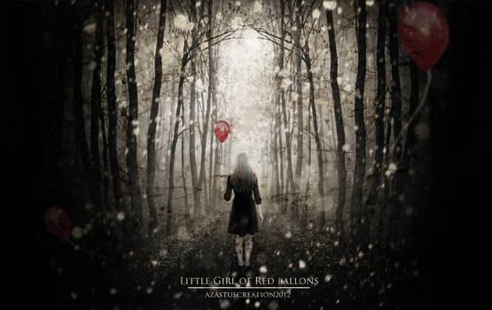 Little Girl Of Red Ballons