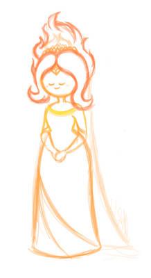 Flame Princess Wedding Dress // FOREVER WIP