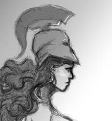 Athena portrait PNG