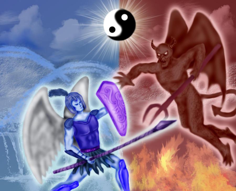angel vs devil - 900×726