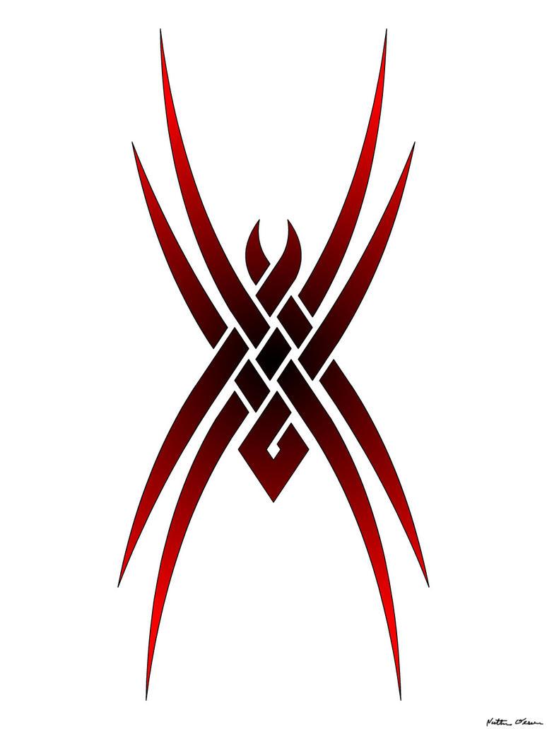Tribal spider by gekko design on deviantart for Tattoo style logo design