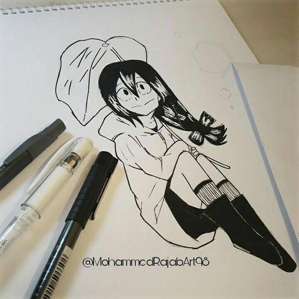 My Drawing Tsuyu Asui From Boku No Hero Academia By