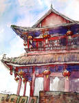 Postcard Series: Teahouse by annsquare