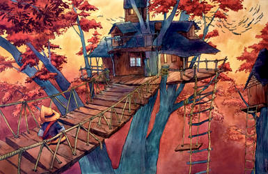 Commission: Fantasy Treehouse