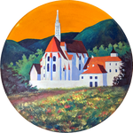 Commission: Vinyl Painting - Church at Kartause