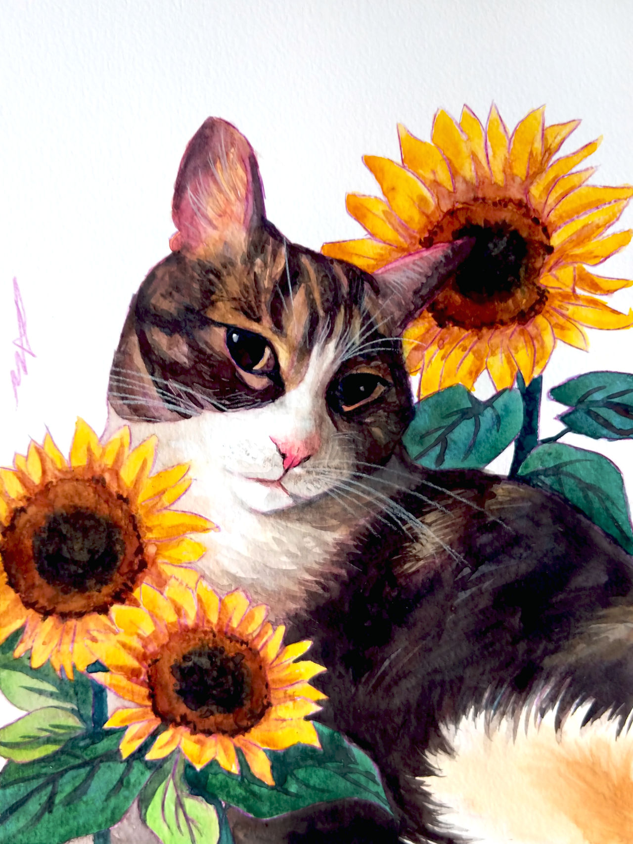 Commission: Bobble with Sunflowers